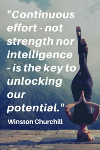 Inspirational Quotes: Continuous Effort not strength nor intelligence is the key to unlocking our potential Winston Churchill