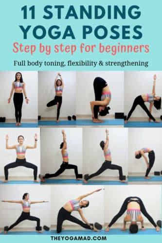 Standing Yoga Poses with Step By Step Instructions for beginners