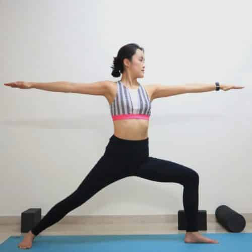 Warrior 2 [virabhadrasana II]- Get step by step instructions and more yoga pose inspirations at https://theyogamad.com