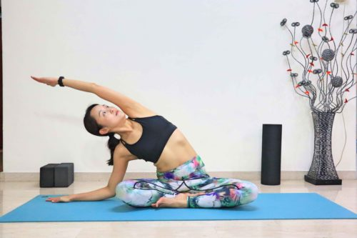 Easy Pose Side Stretch (Sukhasana Variation)