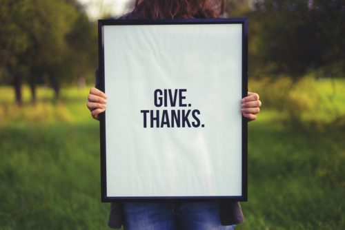 Practise gratitude - give thanks - mental self-care tips