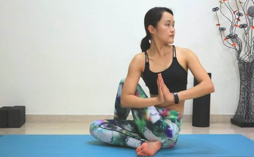 Half Lord of the Fishes [Ardha Matsyendrasana] - Yoga poses for beginners (see more at https://theyogamad.com)