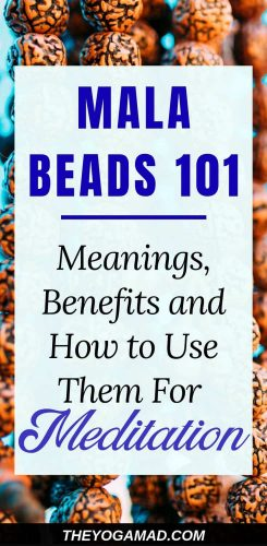 Mala Beads 101: Meanings, Benefits and How to Use Them For Meditation | Mala beads, once used for religious practices, are now becoming popular as a fashion accessory. The meaning behind mala beads is deeply rooted in symbolic and spiritual practices. It is still used as a tool for meditation and various mindfulness practices.