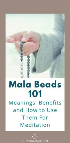 Mala Beads 101: Meanings, Benefits and How to Use Them For Meditation | Mala beads, once used for religious practices, is now becoming popular as a fashion accessory. The meaning behind mala beads is deeply rooted in symbolic and spiritual practices. It is still used as a tool for meditation and various mindfulness practices.