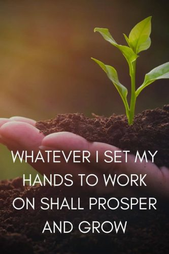 Powerful Affirmations for Success Mindset - Whatever I set my hands to work on shall prosper and grow