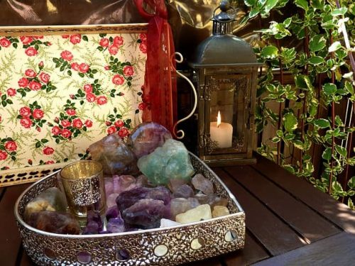Large crystals for positive energy in home spaces