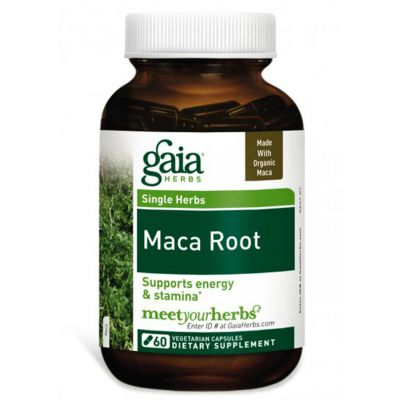 Organic maca root powder in capsule form - Gaia