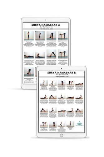 Surya Namaskar A and B cheatsheets