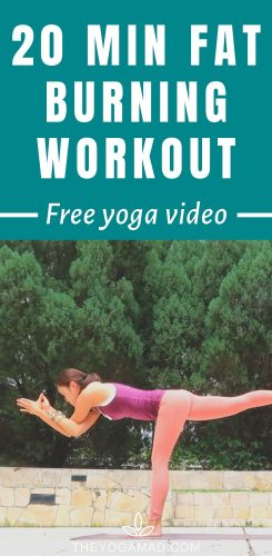 Yoga workout for fat burn and toning