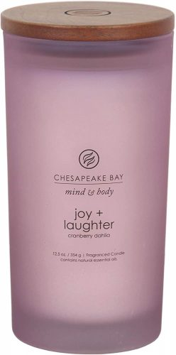 Chesapeake Bay Candle Scented Candle, Joy + Laughter (Cranberry Dahila), Large