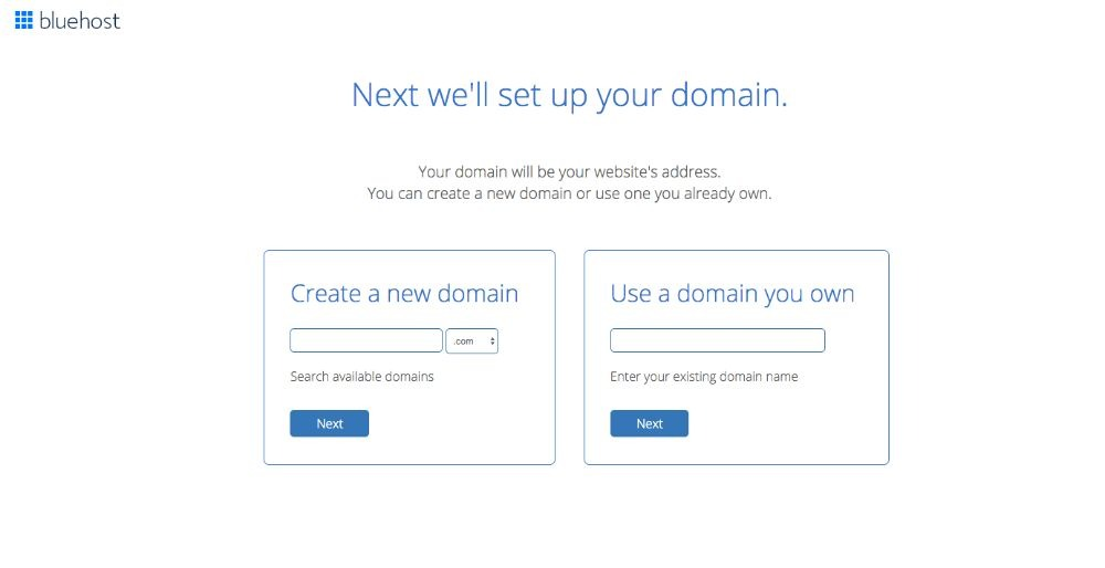 Bluehost - Set Up Domain