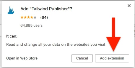 Tailwind Chrome Extension 1