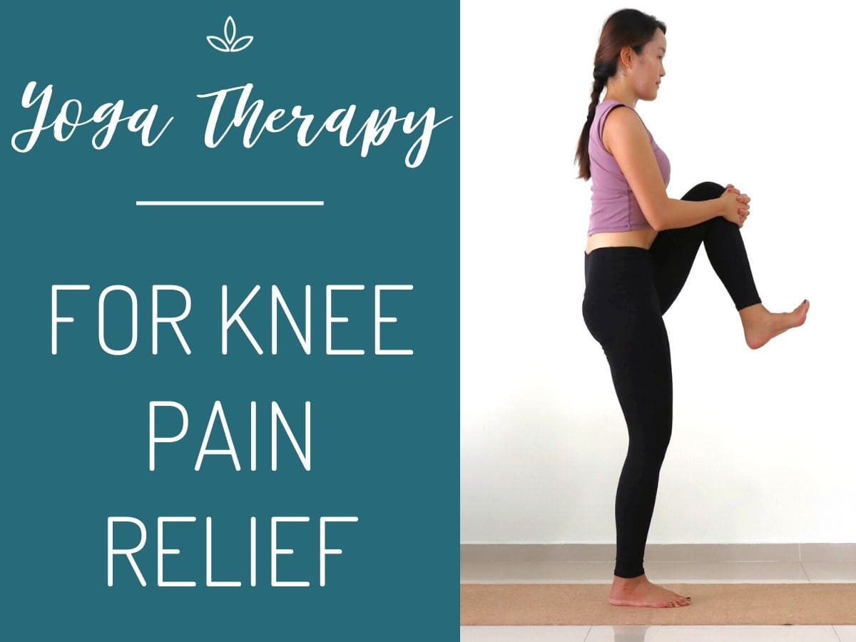Yoga Therapy For Knee Pain Relief Free Yoga Class The Yogamad